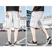 【大きいサイズM-5XL】ファッション/人気半ズボン♪ダークグレー/ライトグレー/ライトグリーン3色展開◆