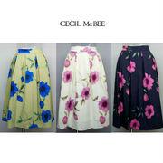 CECIL McBEE/セシルマクビー・花柄フレアスカート