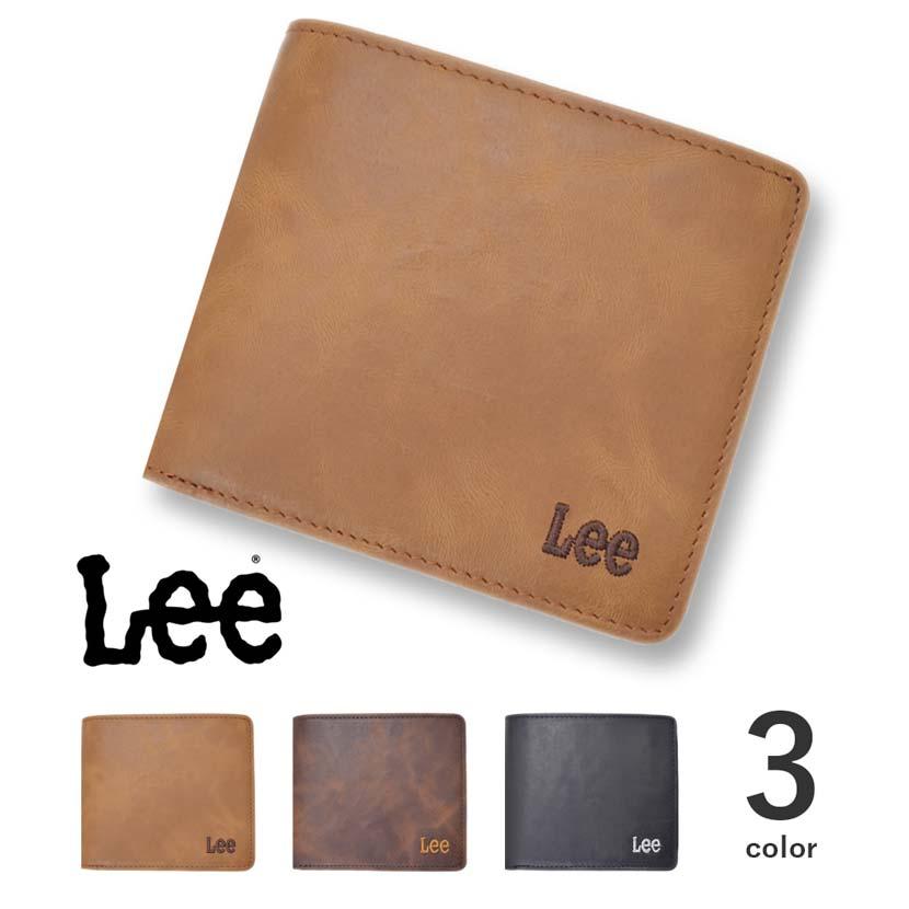 【全3色】 Lee リー ショートウォレット 二つ折り 財布