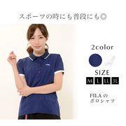 【UVカット・抗菌防臭】 ポロシャツ M L LL 3L レディース 半袖 FILA フィラ 【最安値に挑戦】