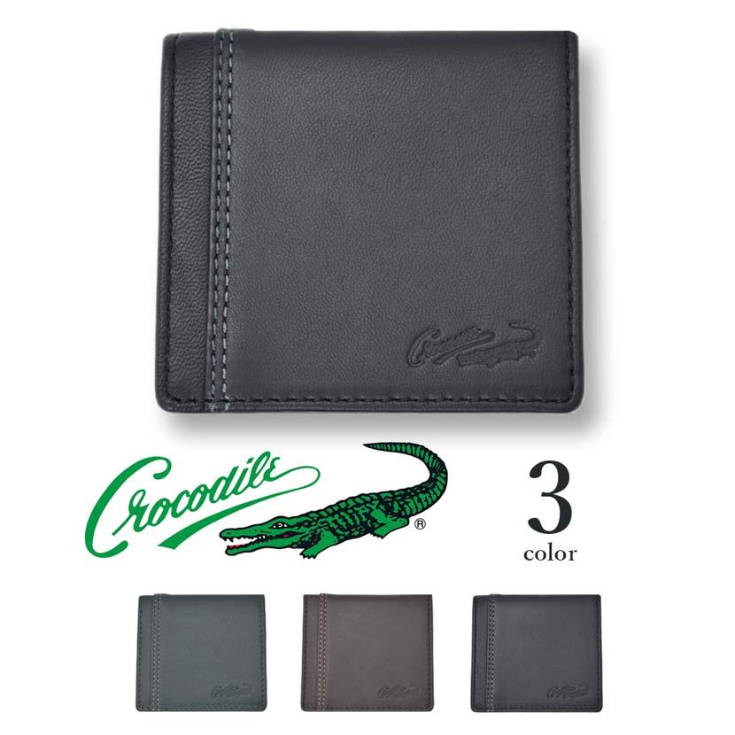 【全3色】 CROCODILE クロコダイル コインケース 小銭入れ 財布 リアルレザー