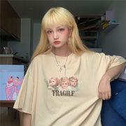 夏★最強の新作ins★韓国ファッション可愛い 学生 合わせやすい カジュアル 半袖 Tシャツ 女 ブラウス