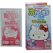 冷却シート ハローキティ(HELLO KITTY)  ももの香り (16枚入) /日本製   sangost