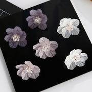 アクリル 花のピアス スタッドピアス フラワー 存在感抜群