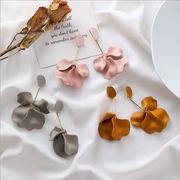 ピアス 気質 花びら スウィート ロングタイプ デザイン 韓国 ファッション