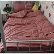 今から夏まで 韓国ファッション  枕カバー 4点セット ふとんのシーツ シーツ シングルベッド 寝具