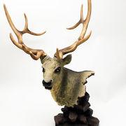 牡鹿 ヘッドオブジェ ■ インテリア 雑貨 飾り 置物 鹿 シカ