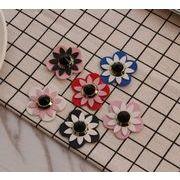 おしゃれダイヤ入り手作りDIY用お花パーツ - 手芸 クラフト 生地 材料   全6色
