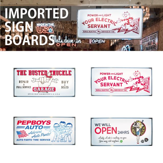 Import Sign Board 【LED サインボード】