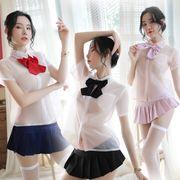 【即日出荷】半袖 ミニスカ 学生服 セーラー服 コスプレ衣装【6102】