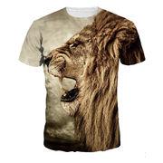 メンズ 夏ビッグTシャツ 3Dプリント 欧米 人気 原宿系