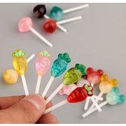 新品♪ 樹脂素材 棒付きのキャンデー アクセサリーパーツ