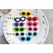 新作人気サングラスの樹脂DIY用デコパーツ - 手芸 クラフト 生地 材料   全10色