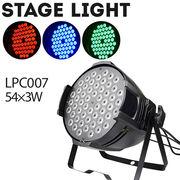 舞台照明 LPC007 3W パーライト スポットライト LED 54灯 RGB コンセント式 室内用 調光 舞台 効果 演出