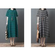 【春夏新作】ファッション/人気ワンピース♪グリーン/ブラック2色展開◆