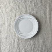 シュシュ・グレース 16cm皿 ラスティックホワイト(兼ソーサー)[美濃焼]
