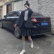 秋服 韓国風 新しいデザイン レジャー 何でも似合う ブレザー 女 ハイウエスト スカー