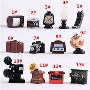 ミニ樹脂の置物 レトロ カメラ 音声を残して上映する ラジオ 居間 飾り道具 置物