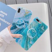 iPhone ケース シェルケース 大理石 iPhone11 スマホリング付き