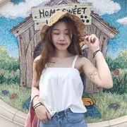 夏 韓国風 若いもの アウトドア セクシー 短いスタイル ベスト 女 インナー ルース