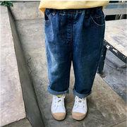 格安!北欧インスタ映え★キッズ★ジーンズ★ジーパン★秋新作子供服★ブリーチデニム ズボン★7-15選択可