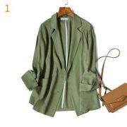 YUNOHAMI  全3色 韓国風 コート アウター 長袖 薄いスタイ 中長スタイル スーツ 上品 無地 何とでも合う