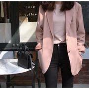YUNOHAMI 秋新作 コート アウター ピンク 長袖 小さなスーツ カーディガン 韓国ファッション 高品質で