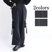 【即納】rugHoney】サイドポケットベルト装飾付きワイドパンツ(87-2812)0718/C-5