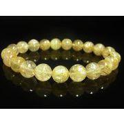 現品一点物 ゴールドルチル ブレスレット 金針水晶数珠 10ミリ 30g PKR4 最強金運