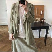 YUNOHAMI テーラードジャケット オフィス カジュアル レディース トップス 通勤オシャレ薄手 女性 二色展開