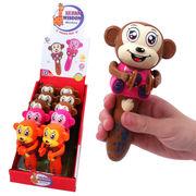 <光るおもちゃ・玩具>音鳴る♪ アニマル鼓笛隊 サル 3色アソート No.203-571