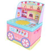 ままごと 収納 ボックス (スイーツショップ)女の子向き 子供部屋 収納 おままごと お片付け(在庫処分)