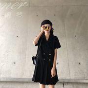 ★最強の新作★韓国ファッション可愛 レディーズ 合わせやすい カジュアル 半袖 ワンピース