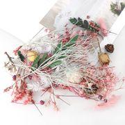 ランダム1ケース 押し花 ハーバリウム 植物標本 セット お祝い ドライフラワー UVレジン 封入 デコパーツ