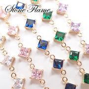 ストーンフレーム 【44. ダイヤ 5色】 チャーム ダイヤモンド ビジュー シャネル