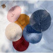 子供帽子 ベレー帽 秋冬 ニット帽 ファション 9色 子供ハット 可愛い帽子