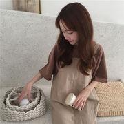 ストラップ ワンピース セット 女 秋 新しいデザイン 韓国風 ルース スカート(中位の
