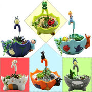 【ファッション雑貨】 植木鉢 ガーデニング 園芸 デコレーション テーブル 可愛い トトロ 創意