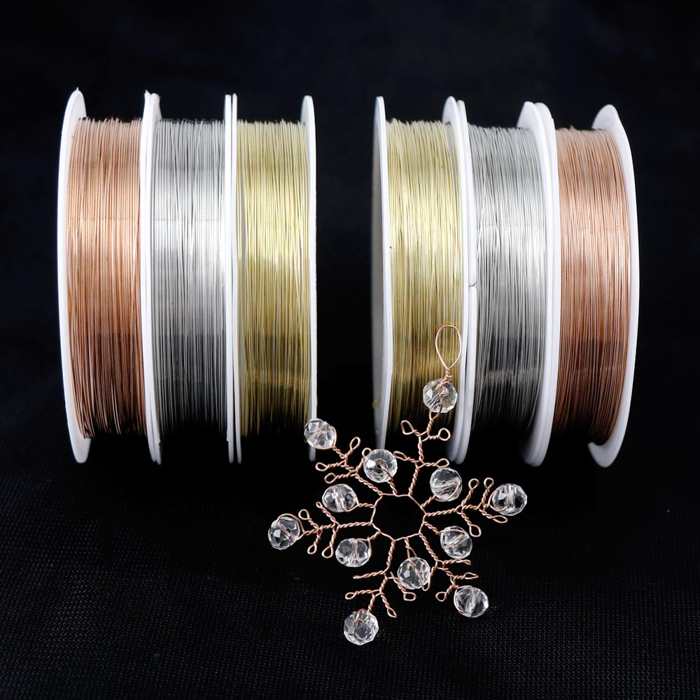 1個 銅線 0.3-0.5mm 3色 コード ライン アートワイヤー 針金 ワイヤー 材料 ハンドメイド 手芸
