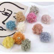 秋冬新品 イヤリング用 羊毛素材のボール アクセサリーパーツ