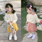 2019秋冬新作 子供服 キッズ服 ファッション 女の子 2点セット セーター+スカ-ト ニット
