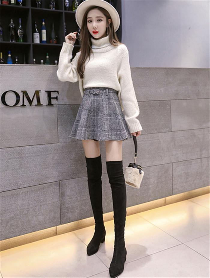 大人の魅力高まる 手触り良いスカート  レジャー カレッジ風 Aライン プリーツスカート