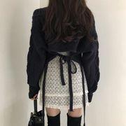 粗 ツイスト セーター 若い女性 スカート 秋 新しいデザイン 韓国風 西洋風 怠惰な