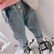 【特価】★♪キッズパンツ★♪男女兼用★♪定番キッズジーンズ★♪デニムパンツ★♪ズボン★♪韓国風★♪