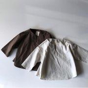 秋新作★韓国型★キッズファンション★トップス★Tシャツ 綿麻