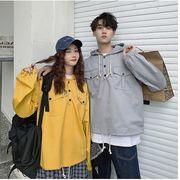 【ペアルックS-XXL】ファッション/人気コート♪イエロー/グレー/カーキ3色展開◆