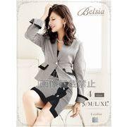 【Belsia】大きいサイズ完備!!monotone千鳥柄セットアップスーツ タイトキャバクラスーツ