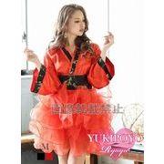 【流遊】セットアップ着物ドレス ゆきぽよ 着用【Ryuyu】チュールスカート2p和柄ドレス*504568