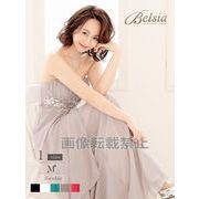 【Belsia】ウエスト透けsexy単色フレアーロングドレス ベアシフォンキャバクラロングドレス*502993
