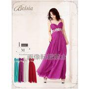 【Belsia】simpleワンカラーキャミAラインロングドレス *502992